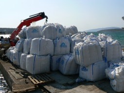 bags of fish feed
