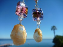 Fishmas jingle shell earrings