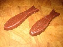 Two chocolate fish