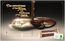chocolate fish ayudin ad