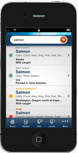 Seafood Watch Application Shopping for Seafood