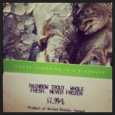 trout at publix supermarket in ice