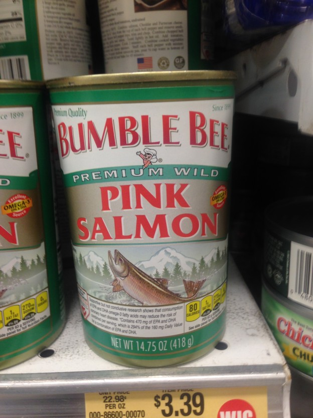 salmon in a can